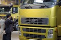 A visitor looks at a Volvo truck at the IAA Commercial Vehicles Show in Hanover, Germany on September 20 last year. Photo: Bloomberg News