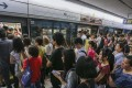 Commuters queue for a train during peak hours at Kowloon Tong station on May 25. The MTR Corp, which operates the city's rail system, has been embroiled in a series of controversies over shoddy work recently. Photo Dickson Lee
