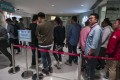 Buyers queue up for the sales of Park Villa phase one development in Tsuen Wan on 23 June, 2018. Photo:SCMP/Jonathan Wong