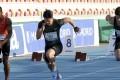 Su Bingtian of China runs during the men's 100m final in Madrid. Photo: Xinhua