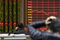 The Shanghai Composite Index dropped 0.5 per cent to 2,844.51 at the close on Tuesday. Overall, Chinese stocks have lost about US$1.6 trillion in total value since a high in January. Photo: EPA