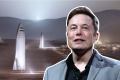 Elon Musk and a SpaceX illustration of its Big Falcon Spaceship on Mars. Photo: Shayanne Gal/Business Insider