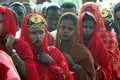 Sudanese women line up during a wedding ceremony in 2006. Photo: Retuers