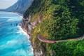 The road along the Qingshui Cliffs in Taroko National Park, Taiwan. Photo: Martin Williams