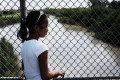Yerlin Yessehia, 11, of Honduras waits with her family along the border bridge near Brownsville, Texas, on Monday after being denied entry into the US from Mexico. Photo: Getty Images/AFP
