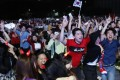 South Korea fans celebrate in front of the Seoul city hall, watching their team beating Germany in the World Cup. Photo: EPA