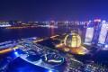 Night view of Qianjiang New Town in Hangzhou, in east China's Zhejiang province. Photo: Imaginechina