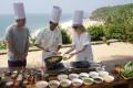A cooking class at the cliff-top Niraamaya Surya Samudra in Kerala.