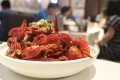 Eating crayfish is a favourite pastime in China, especially while watching the World Cup . Photo: Simon Song