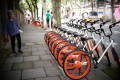 A sea of Mobikes in Beijing. Photo: Handout