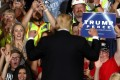 """US president Donald Trump greets supporters at a """"Make America Great Again"""" rally in Great Falls, Montana, on July 5. According to the Washington Post's fact checkers, Trump has made more than 3,200 false or misleading claims since coming into office. Photo: AFP"""