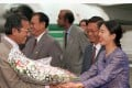 Now and then: Malaysian Prime Minister Mahathir Mohamad visits Beijing in 1996. Photo: Reuters