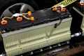 A section of the lithium-ion battery pack from a Chevrolet Volt electric vehicle on display at a design studio in Troy, Michigan, on January 18, 2012. Photo: REUTERS