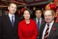 "From left: Jeremy Hunt with wife Lucia Guo, Tory councillor Jackson Ng, and Geoffrey Clifton-Brown, chairman of the Conservative ""Friends of the Chinese"" group. Photo: Stuart Lau"