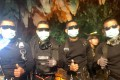 The last four Thai Navy Seals to exit the cave. Photo: AFP