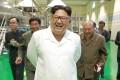 North Korean leader Kim Jong-un visits a potato factory in Samjiyon County, North Korea. Photo: AP