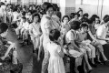 Scores of patients crowd the waiting hall of a clinic on Hong Kong Island during the influenza epidemic in July 1968. Photo: SCMP