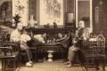 Smoking opium with water pipes (circa 1880). Photo: courtesy of Wattis Fine Art