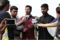 Indian petitioners and LGBT activists Romel Barel, left, Krishna Reddy, centre, and Anwesh Pokkuluri talk to the media after a hearing at the Supreme Court in New Delhi. Photo: EPA
