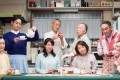 Yui Natsukawa (front, second left) plays a housewife who walks out on her family in anger in the film What a Wonderful Family! 3: My Wife, My Life (category I, Japanese), directed by Yoji Yamada. Masahiko Nishimura and Isao Hashizume co-star.