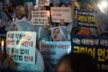 South Korean anti-immigration activists protest against asylum seekers.
