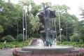 A sculpture entitled 'Embrace' at Camões Garden in Macau commemorates Sino-Portuguese friendship. Photo: Fox Yi