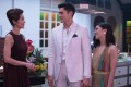 (From left) Michelle Yeoh, Henry Golding and Constance Wu in a scene from Crazy Rich Asians.
