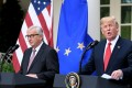 US President Donald Trump and European Commission President Jean-Claude Juncker reached the deal after talks in Washington. Photo: Abaca Press/TNS