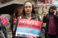 """A woman holds a sign for patients suffering from ME during """"Millions Missing"""" rally in London. Those with the illness are known as the """"missing millions"""", as they have had to drop out of everyday life. Photo: Alamy"""