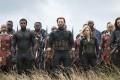 Chris Evans, Scarlett Johansson, Chadwick Boseman, Sebastian Stan, Danai Gurira, Marie Mouroum, and Winston Duke in Avengers: Infinity War. How about they take on the X-Men next? Photo: Marvel Studios