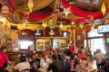 The busy and trendy Cafe Mondegar sums up vibrant Colaba in Mumbai. Photo: Alamy