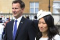 Jeremy Hunt is married to Lucia Guo, with whom he has three children. Photo: AFP