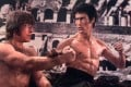 """Bruce Lee in Return of the Dragon (also called Way of the Dragon), the film released a year after his death. Critic Roger Ebert called it """"magnificently silly""""."""