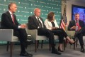 From left, Mario Mancuso, Derek Scissors, Nancy McLernon and Michael Allen on Tuesday at the Hudson Institute, discussing the Committee on Foreign Investment in the United States. Photo: Jodi Xu Klein/SCMP