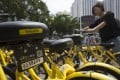 Ofo bikes in Shenzhen, China. Photo: SCMP