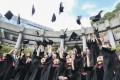 Students celebrate graduating from the Chinese University of Hong Kong. Photo: David Wong