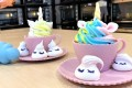 These colourful unicorn cupcakes made by the Bakebe team look adorable and delicious.