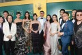Crazy Rich Asians director Jon Chu (second from left), author of the novel the film is based on Kevin Kwan (far right) and cast members arrive for the film's premiere in Hollywood. Photo: Emma McIntyre/Getty Images/AFP