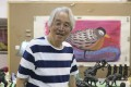 Artist and sculptor Teng Wenjin. Picture: Thomas Bird