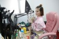 A girl broadcasts at a live streaming talent agency in Beijing, China, 2017. Photo: Reuters