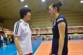 China head coach Lang Ping with Zhang Changning. Photo: FIVB.com