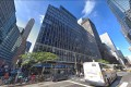 The building at 850 Third Avenue in Manhattan is home to both the New York headquarters of the Chinese conglomerate HNA and the police precinct station house tasked with taking care of Trump Tower, US President Donald Trump's residence, a short walk away. Photo: Google Street View