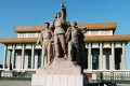 A workers' statue outside the mausoleum of Mao Zedong in Tiananmen Square, Beijing. Picture: SCMP