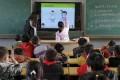 Wang Xueying teaches an anti-sexual abuse class to pupils in Changshu, China. Photo: Handout