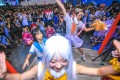 This photo taken on July 21, 2017 shows dancers performing during Bilibili Macro Link 2017, an annual convention of animation, comic and games (ACG), in Shanghai. Photo: AFP