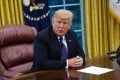 US President Donald Trump following a telephone conversation with Mexican President Enrique Peña Nieto in the White House on Monday. Trump dismissed the stalled negotiations with China, saying that 'it's just not the right time to talk right now'. Photo: Bloomberg