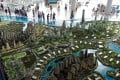 A model of the controversial Forest City development. Photo: Reuters