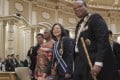 Taiwanese President Tsai Ing-wen with King Mswati III during her visit to eSwatini in April. Photo: Taiwanese presidential office