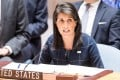 Nikki Haley, US Ambassador to the United Nations, at the UN in New York. Photo: TNS