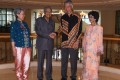 Malaysian Prime Minister Mahathir Mohamad with Singapore Prime Minister Lee Hsien Loong and their wives. Photo: AFP